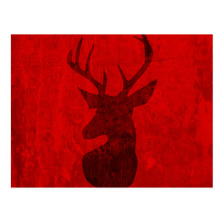 Red Deer Design Postcard