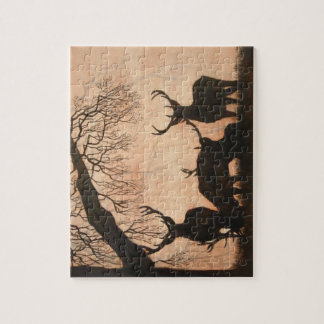 Red Deer Evening Silhouette 110 piece Puzzle