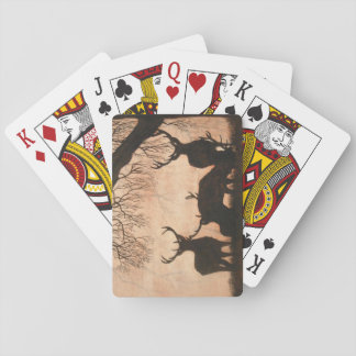 Red Deer Evening Silhouette Playing Cards