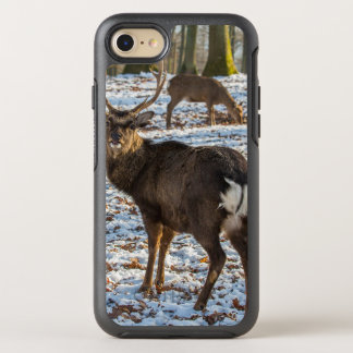 Red Deer in Snow OtterBox Symmetry iPhone 8/7 Case