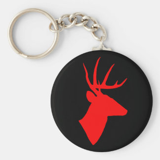 Red Deer Keychain