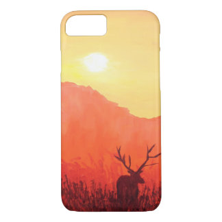 Red Deer phone case- forest nature explorer beauty iPhone 8/7 Case