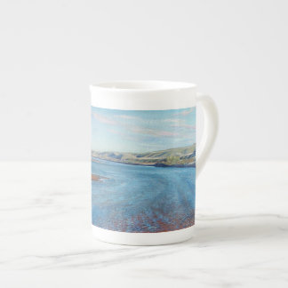 Red Deer Sandbars - bone china mug