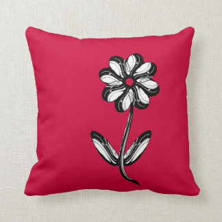 Red Dekokissen Throw Pillow