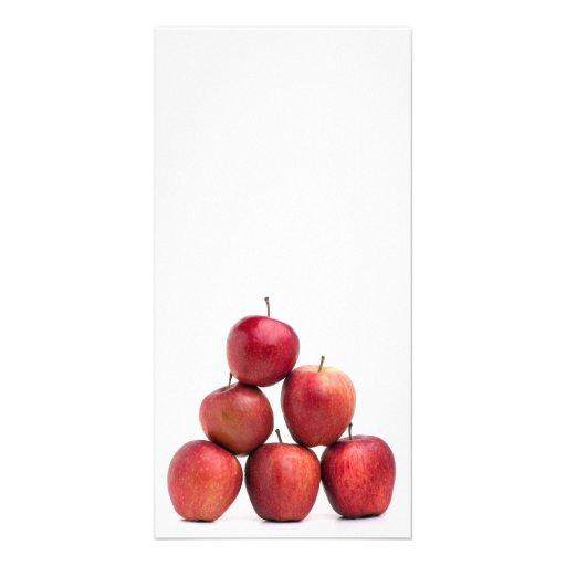 Red Delicious Apples Pyramid Photo Card Template