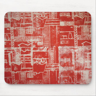 Red Derby Pattern Mousemat Mouse Pad