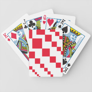 Red Descending Diamonds Bicycle Playing Cards
