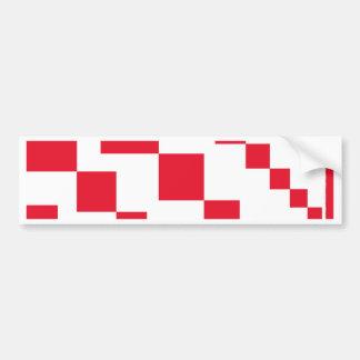 Red Descending Diamonds Bumper Sticker