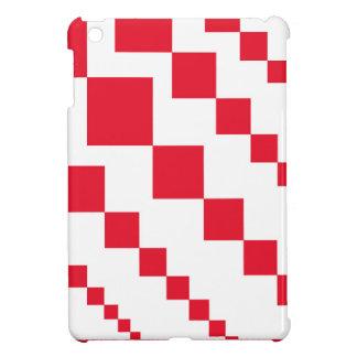 Red Descending Diamonds iPad Mini Cover