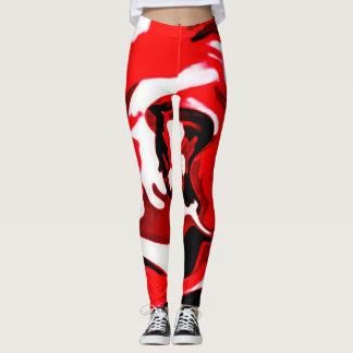 Red Designer Camo Leggings