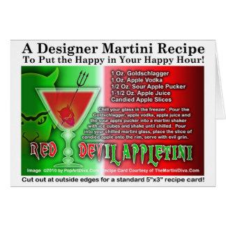 Red Devil Apple Martini Halloween Recipe Card