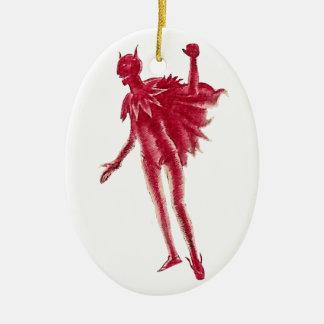 Red Devil Ceramic Ornament