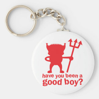 RED DEVIL have you been a good boy? Keychain