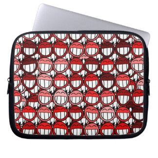 Red Devil Smiley Faces Funny Humor Laugh Cartoon Computer Sleeves