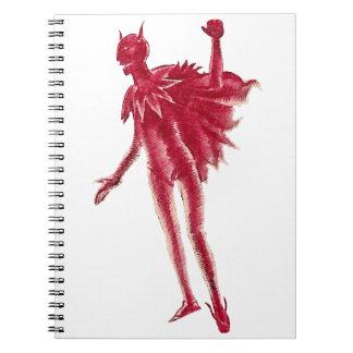 Red Devil Spiral Notebook