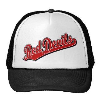 Red Devils in Red and White Mesh Hats