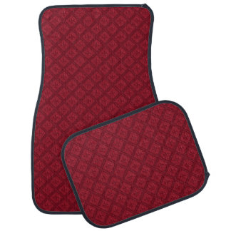 Red Diamond and Fleur Di Lys Pattern Car Mats Car Mat