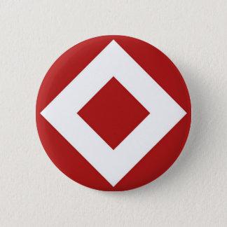 Red Diamond, Bold White Border 2 Inch Round Button