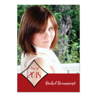 Red Diamond Class Graduation Announcement
