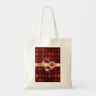 Red diamond heart sparkling gems