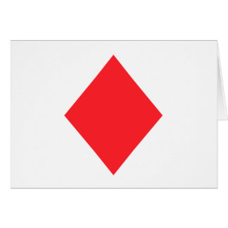 Red Diamond - Suit of Gambling Cards