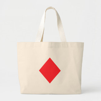 Red Diamond - Suit of Gambling Cards Tote Bags