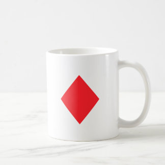 Red Diamond - Suit of Gambling Cards Coffee Mugs