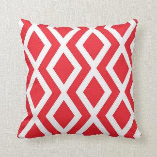 Red Diamond Throw Pillow