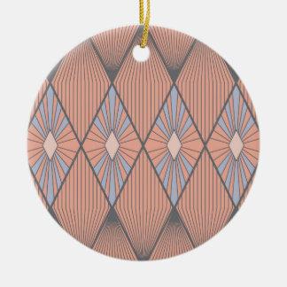 Red diamonds ceramic ornament