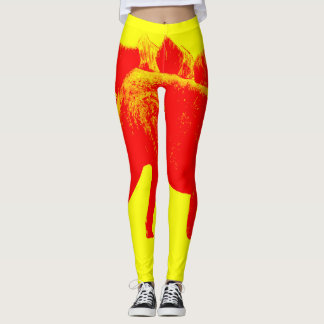 Red Dino Leggings