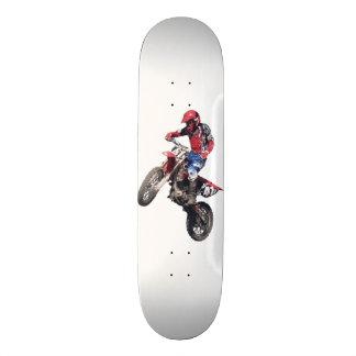 Red Dirt Bike Custom Skate Board