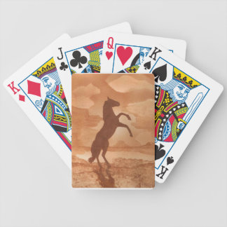 Red Dirt Horse Bicycle Playing Cards