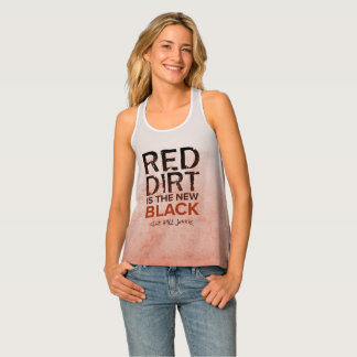 Red Dirt Racerback Womens Baseball Tank Tank Top