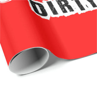 Red Dirty 30 Thirtieth Party Wrapping Paper