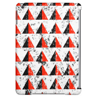 Red Distressed Triangle Pattern iPad Air Cover