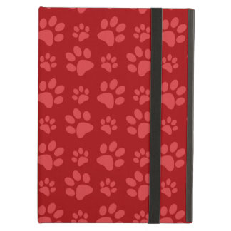 Red dog paw print pattern cover for iPad air