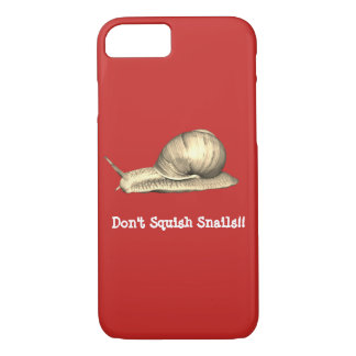 Red Don't Squish Snails Design iPhone 8/7 Case