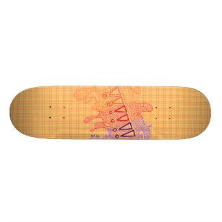 Red Doodles Skateboard