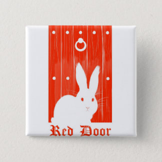 Red Door Bunny Button