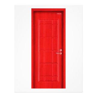 Red door. flyer design