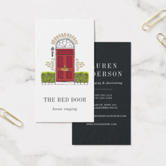 Red Door | Home Staging or Interior Design Business Card