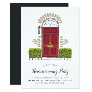 Red Door Housewarming Party Invitation