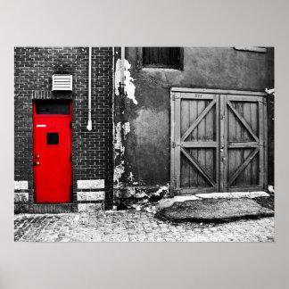 red door poster - standard size