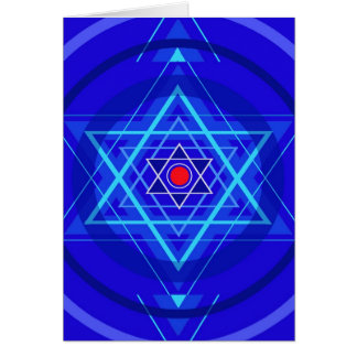 Red dot and the bluish Jewish Stars. Card