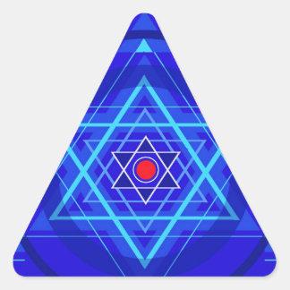 Red dot and the bluish Jewish Stars. Sticker