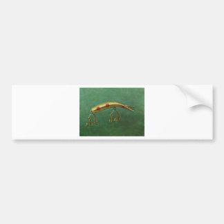 Red Dot Fishing Lure Bumper Sticker