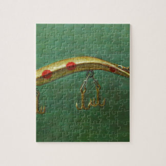 Red Dot Fishing Lure Jigsaw Puzzle