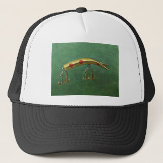 Red Dot Fishing Lure Trucker Hat