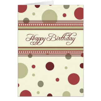 Red Dots Business From Group Birthday Card