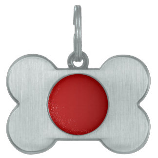 Red Dots Christmas Background Pet Tag